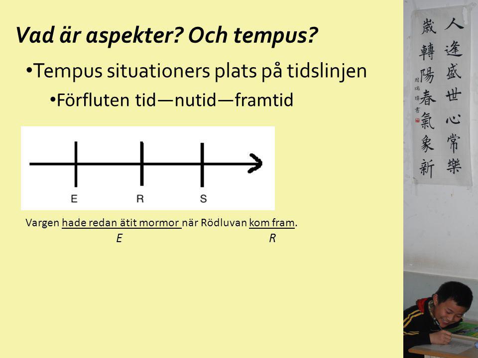 Svenska motsvarigheter V+V— Verb + lite/Verb + en stund/ ta och + Verb/gå och + Verb 你来看一看吧! Kom och titta lite.