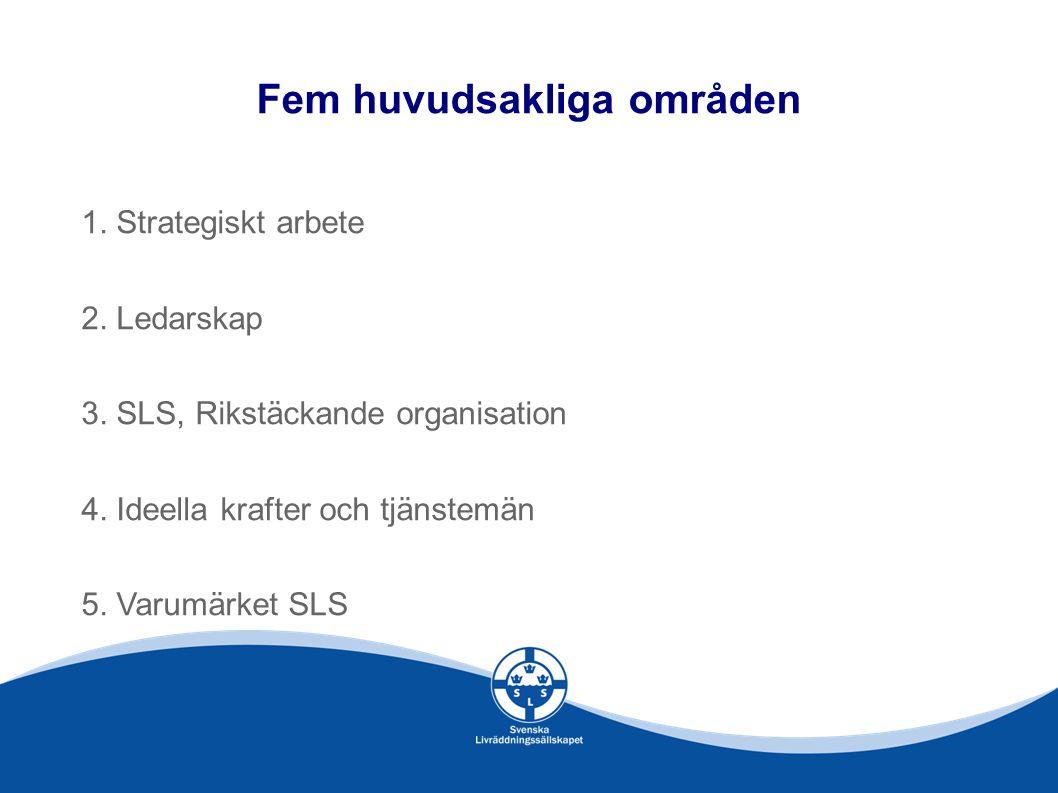 Fem huvudsakliga områden 1.Strategiskt arbete 2. Ledarskap 3.