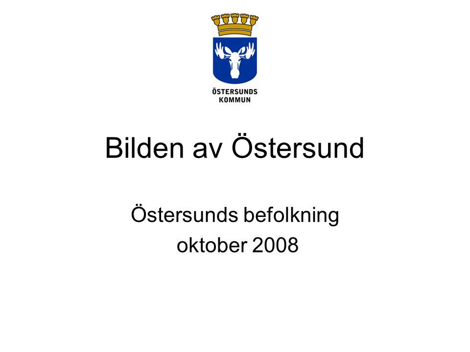 Bilden av Östersund Östersunds befolkning oktober 2008
