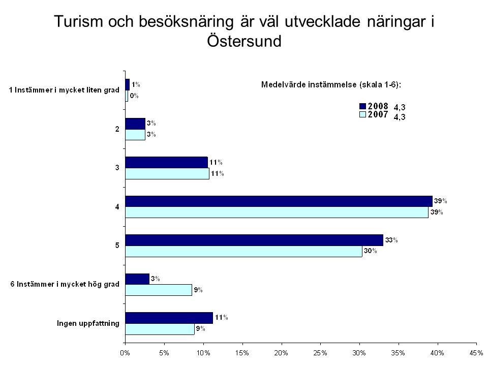 Turism och besöksnäring är väl utvecklade näringar i Östersund
