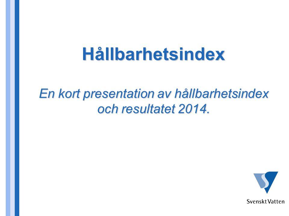 Hållbarhetsindex En kort presentation av hållbarhetsindex och resultatet 2014.