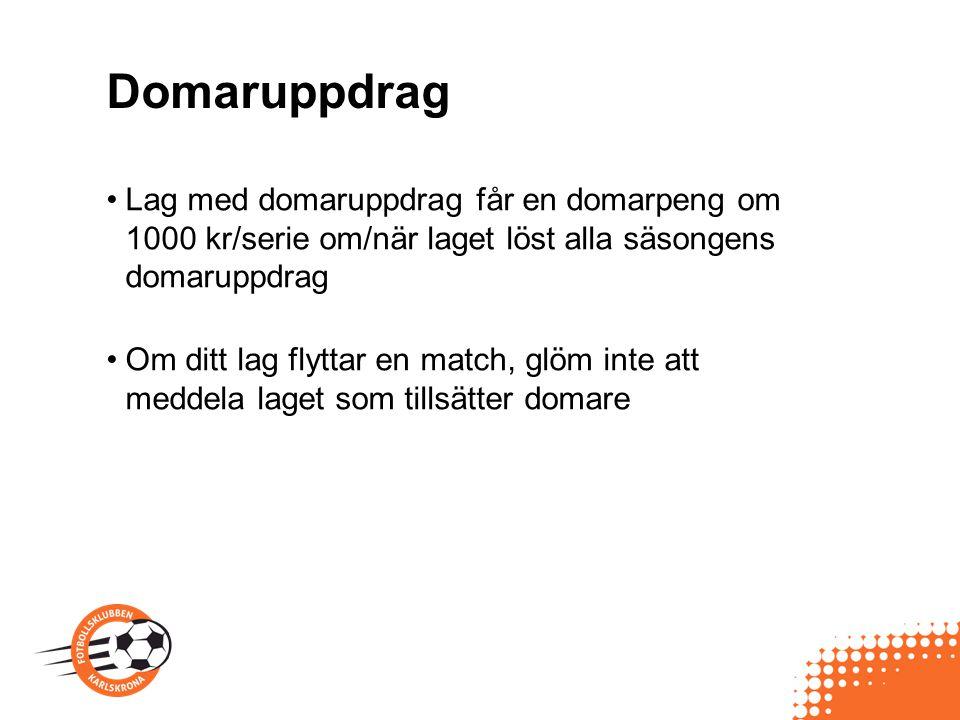 Föreningsekonomi Genomgång av Thomas Meddela ungdomsansvarig innan ev egna initiativ tas till att samla in lagpengar.