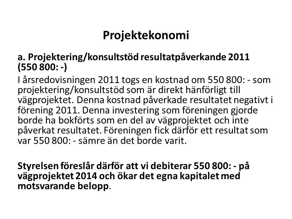 Projektekonomi a.