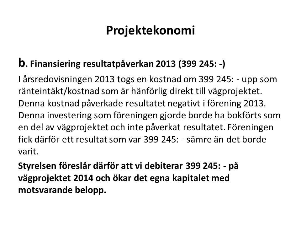 Projektekonomi b.