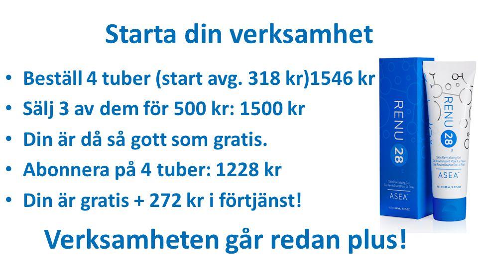 Starta din verksamhet Beställ 4 tuber (start avg.