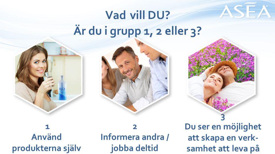 Vad vill DU.Är du i grupp 1, 2 eller 3.