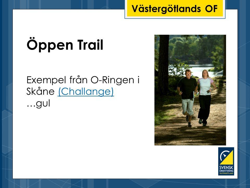 Västergötlands OF Öppen Trail Exempel från O-Ringen i Skåne (Challange)(Challange) …gul