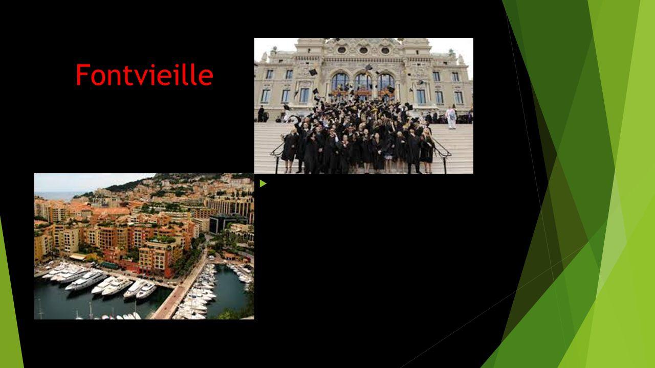 Fontvieille Fontvieille ligger sydväst om Monaco- Ville och Monte Carlo och söder om La Condamine. FFontvieille är det sydligaste området och näst m