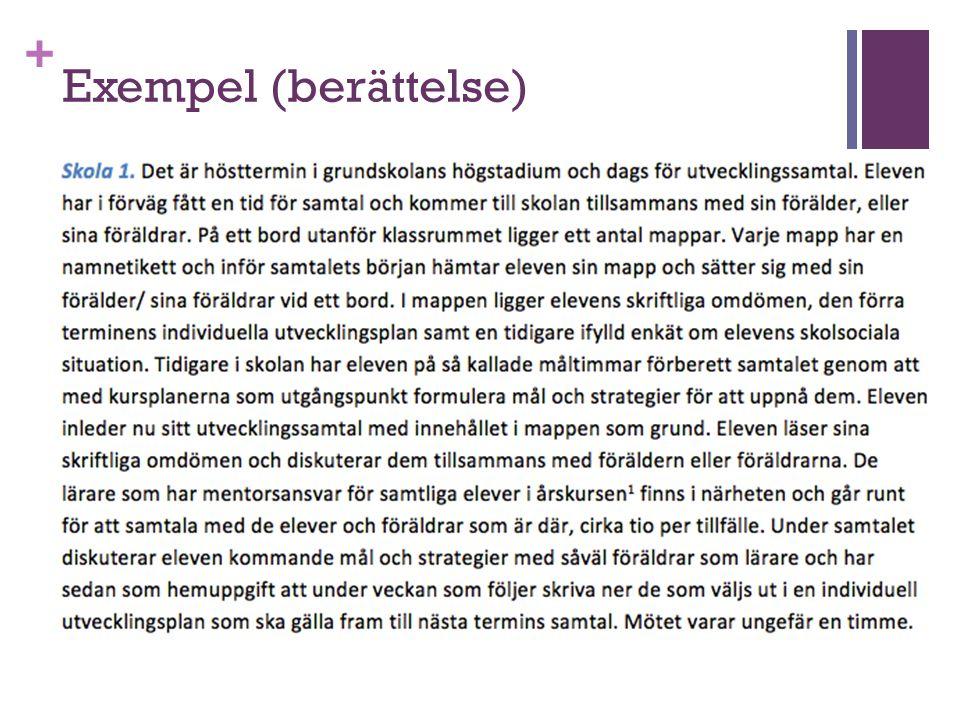+ Exempel (berättelse)
