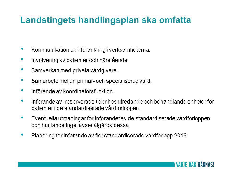 Kommunikation och förankring i verksamheterna. Involvering av patienter och närstående.