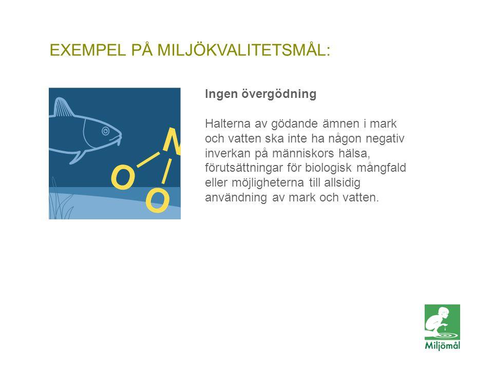 EXEMPEL PÅ MILJÖKVALITETSMÅL: FOTO: LENA KOLLER/JOHNÉR Ingen övergödning Halterna av gödande ämnen i mark och vatten ska inte ha någon negativ inverka