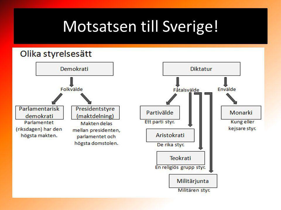 Motsatsen till Sverige!
