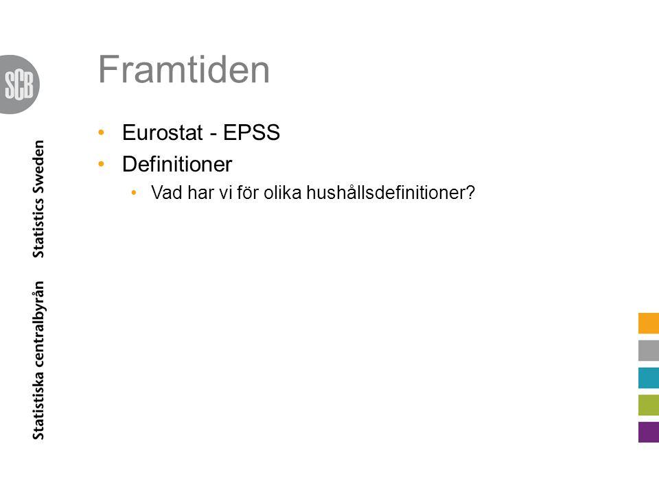 Framtiden Eurostat - EPSS Definitioner Vad har vi för olika hushållsdefinitioner?