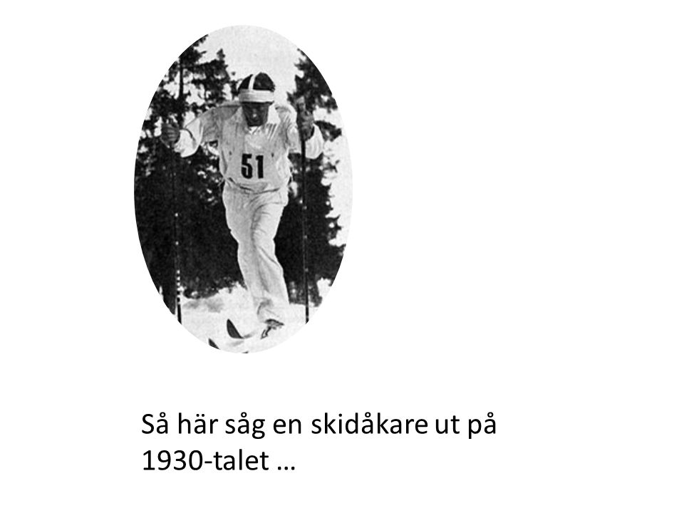 Så här såg en skidåkare ut på 1930-talet …