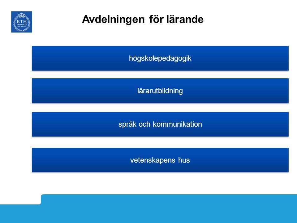 lärarutbildning högskolepedagogik språk och kommunikation vetenskapens hus Avdelningen för lärande