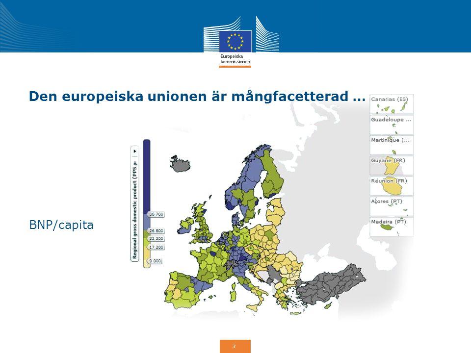 4 Den europeiska unionen är mångfasetterad … Arbetslöshet