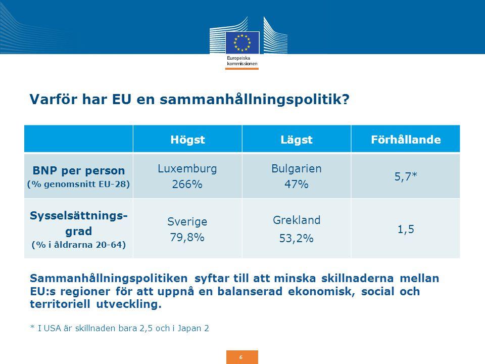 Samman- hållning- spolitiken EU:s reformerade sammanhållningspolitik VIDEO