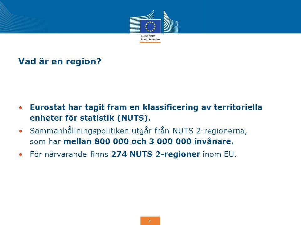 9 EU:s sammanhållningspolitik 2014-2020: 1/3 av EU:s budget De reformer som överenskommits för perioden 2014-2020 är utformade för att maximera effekten av tillgänglig EU-finansiering.