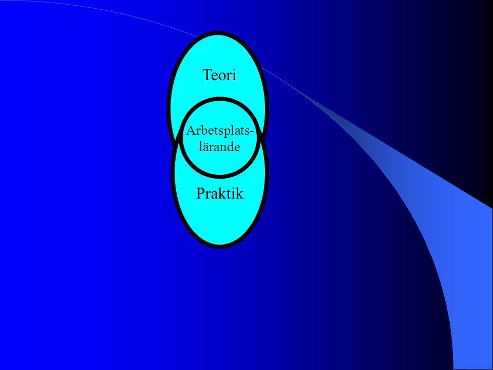 Praktik Arbetsplats- lärande Teori