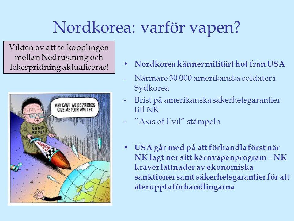 Nordkorea: varför vapen.