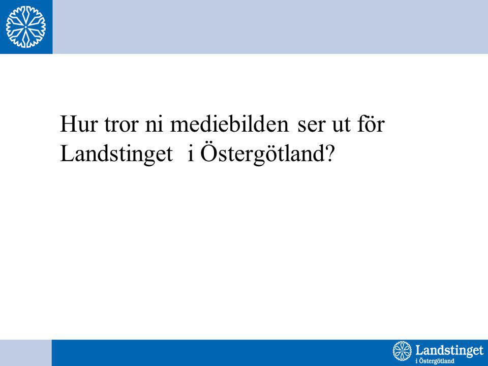Hur tror ni mediebilden ser ut för Landstinget i Östergötland