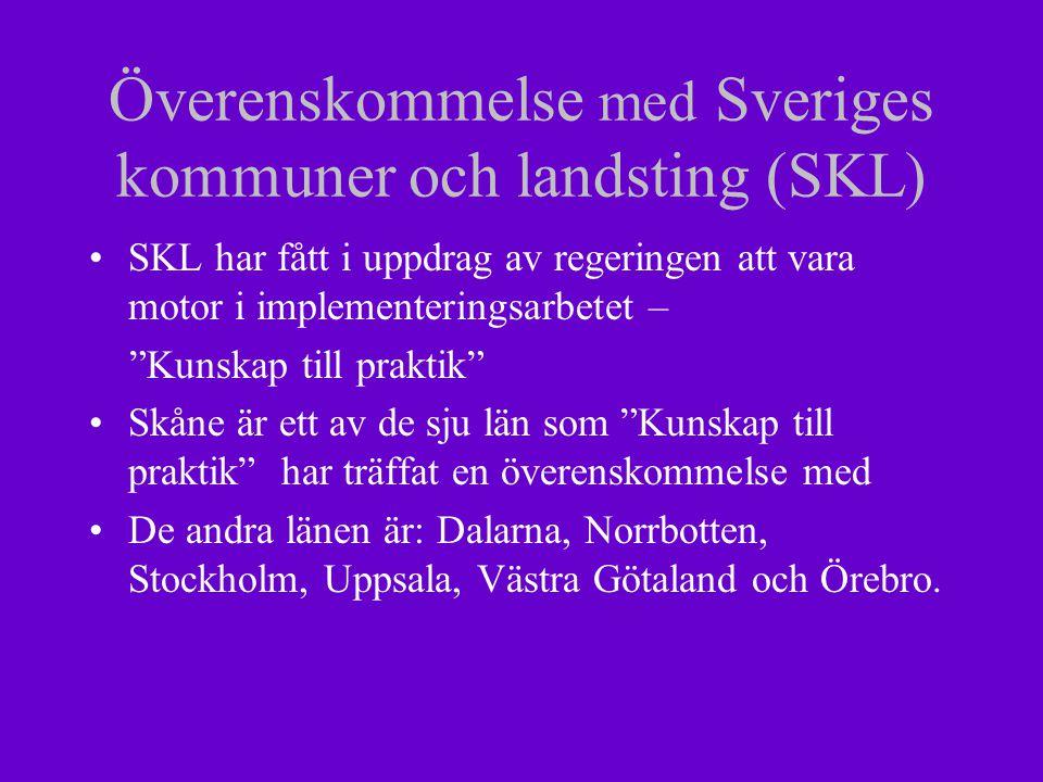 SIKTA har en plan Skånegemensamma riktlinjer som tydliggör de olika aktörernas ansvar Inventering av fortbildningsbehov Erbjuda fortbildning Träffa överenskommelser med SIKTA- kommuner