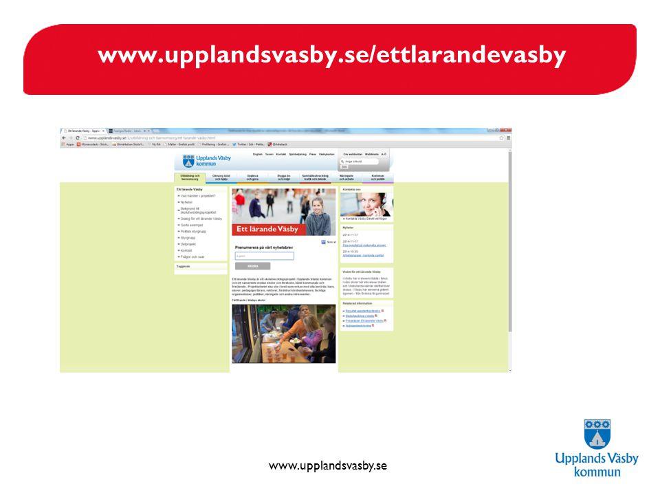 www.upplandsvasby.se www.upplandsvasby.se/ettlarandevasby