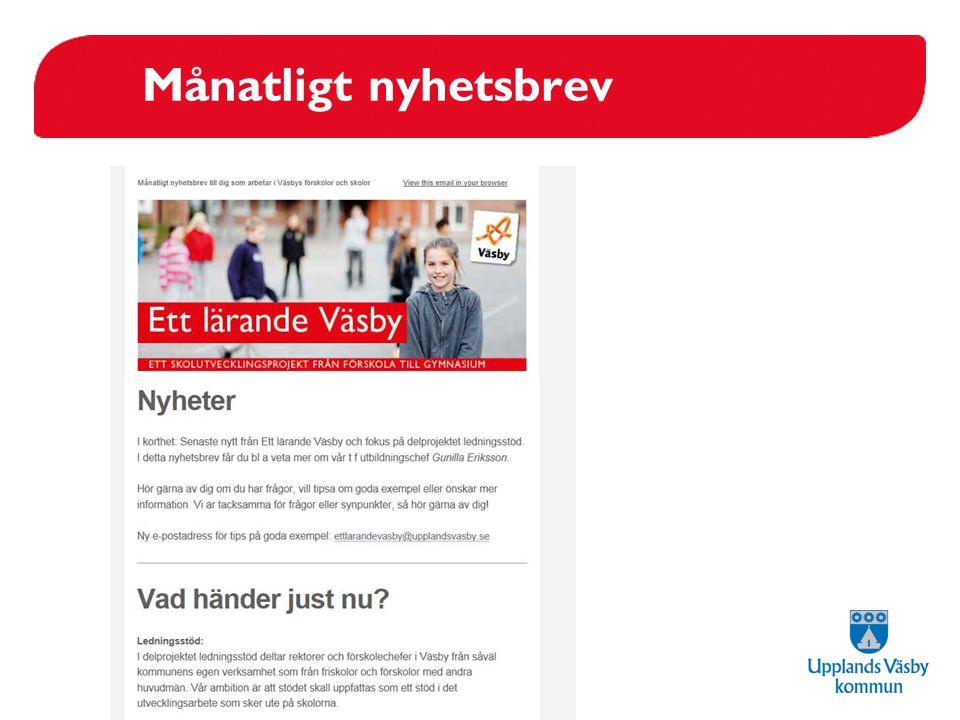 www.upplandsvasby.se Månatligt nyhetsbrev