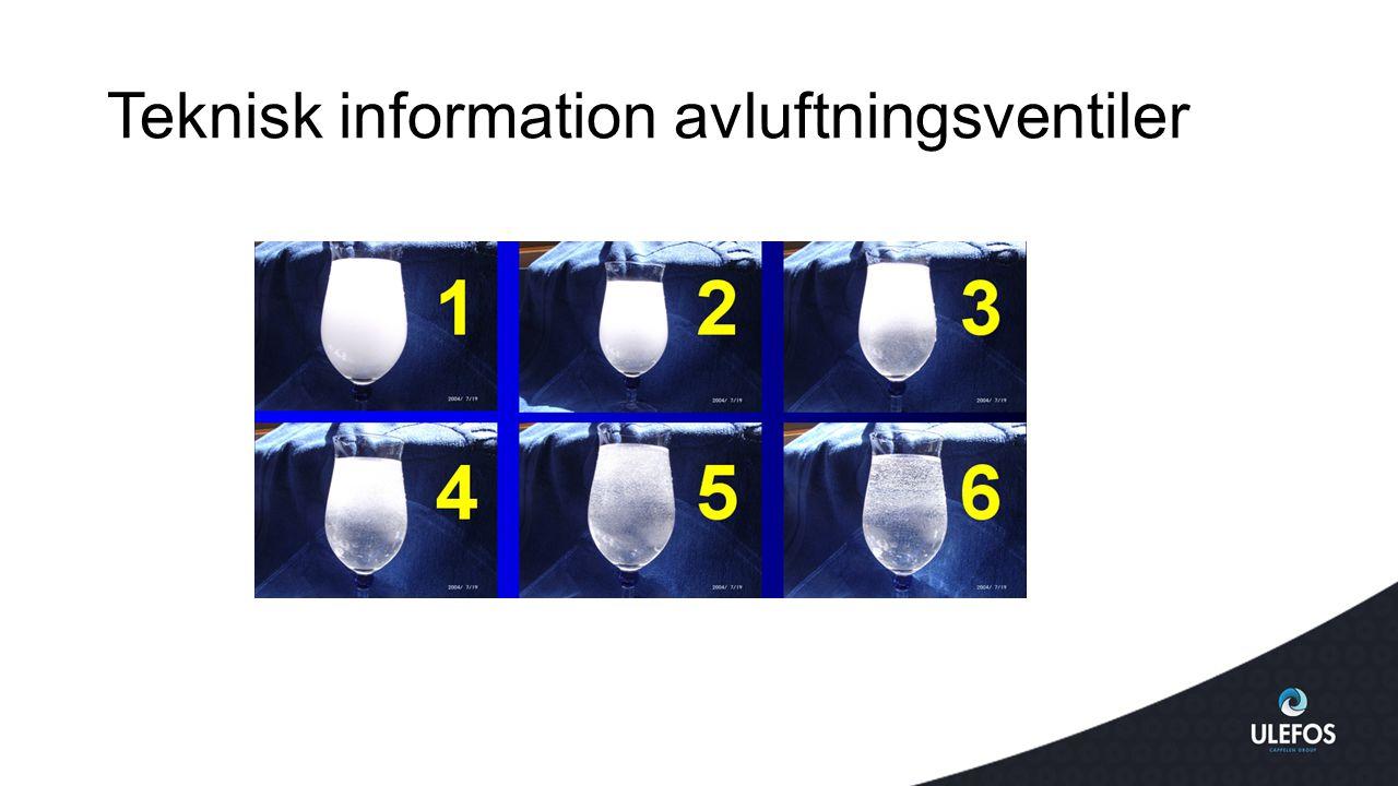 Teknisk information avluftningsventiler