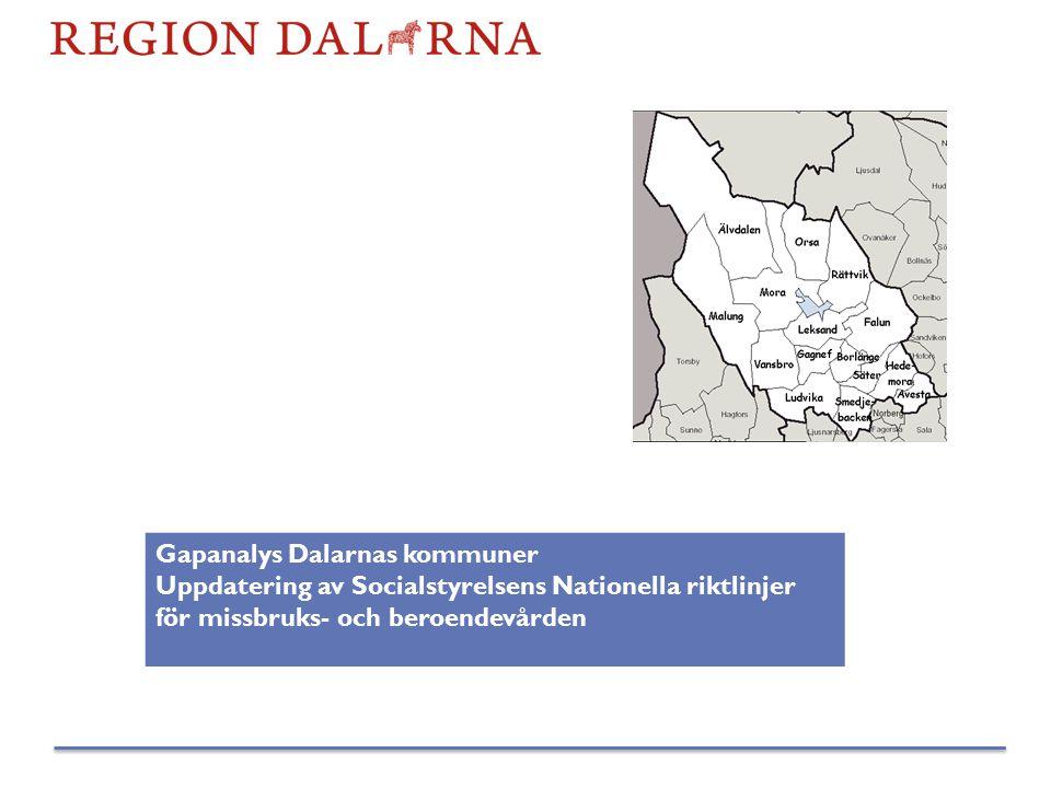 Gapanalys Dalarnas kommuner Uppdatering av Socialstyrelsens Nationella riktlinjer för missbruks- och beroendevården