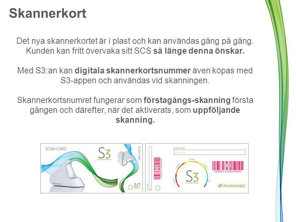 Skannerkort Det nya skannerkortet är i plast och kan användas gång på gång.