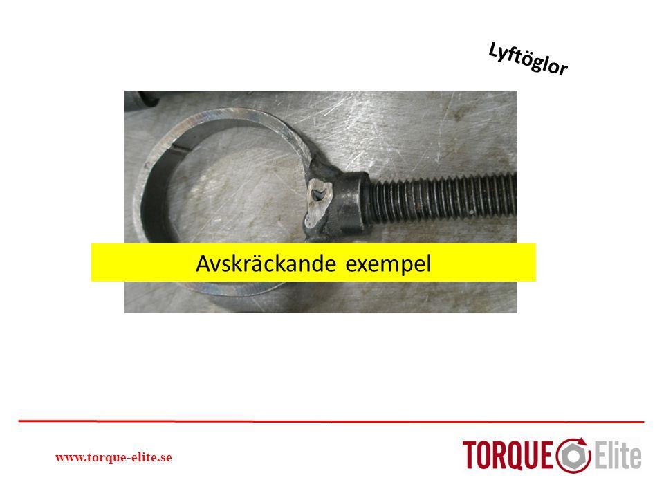 Lyftöglor www.torque-elite.se Avskräckande exempel
