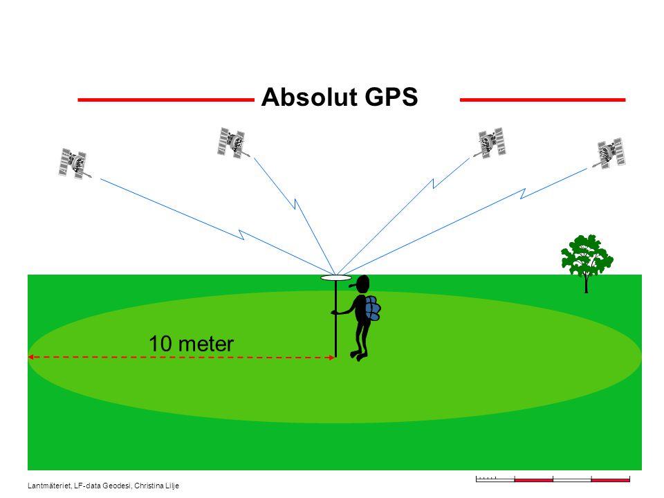 Lantmäteriet, LF-data Geodesi, Christina Lilje Absolut GPS 10 meter