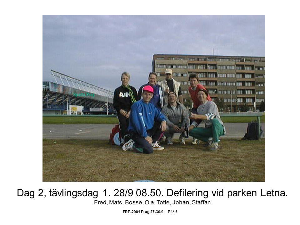 FRP-2001 Prag 27-30/9 Bild 16 Totte tycks inte tro att denna klyka är nåt problem.