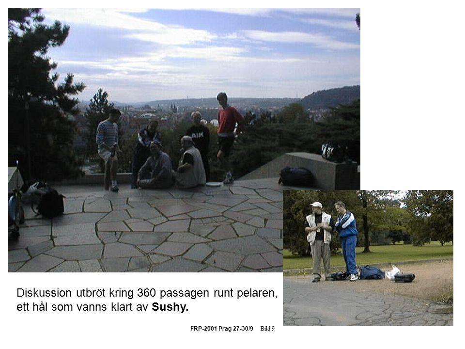 FRP-2001 Prag 27-30/9 Bild 9 Diskussion utbröt kring 360 passagen runt pelaren, ett hål som vanns klart av Sushy.
