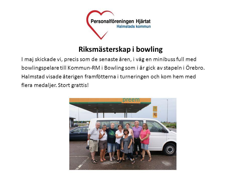 Riksmästerskap i bowling I maj skickade vi, precis som de senaste åren, i väg en minibuss full med bowlingspelare till Kommun-RM i Bowling som i år gi