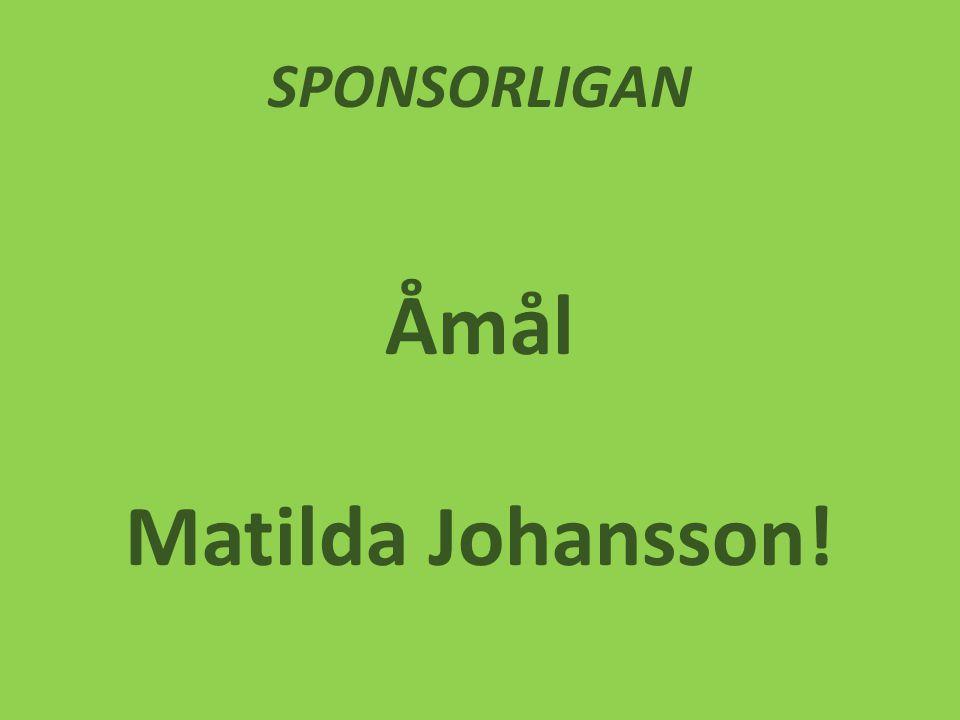 SPONSORLIGAN Åmål Matilda Johansson!