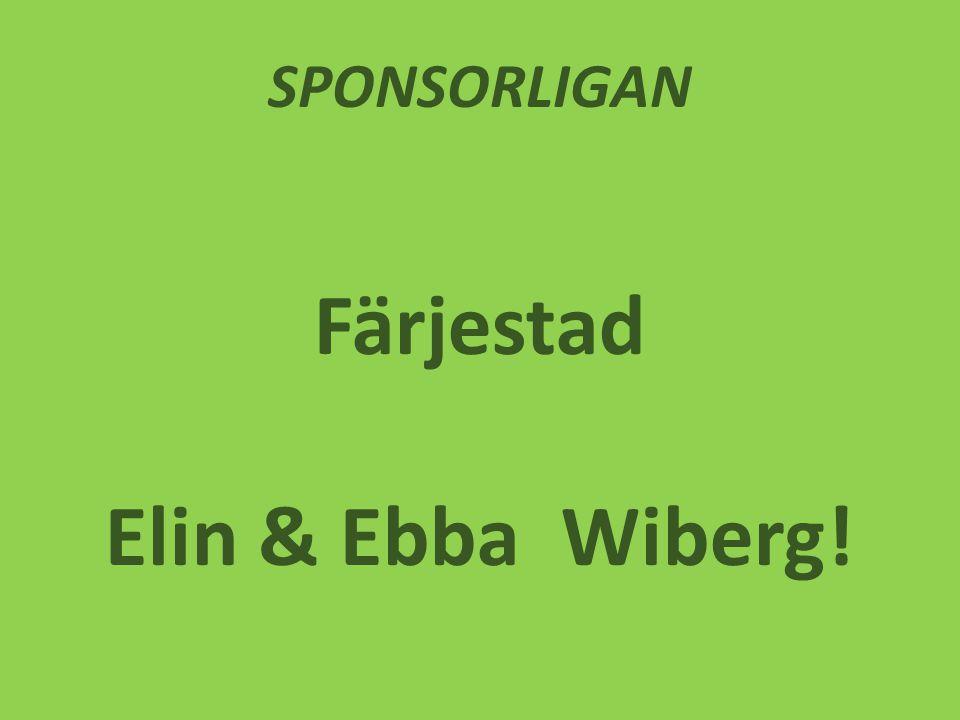 SPONSORLIGAN Färjestad Elin & Ebba Wiberg!