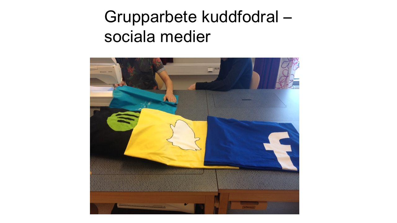 Grupparbete kuddfodral – sociala medier