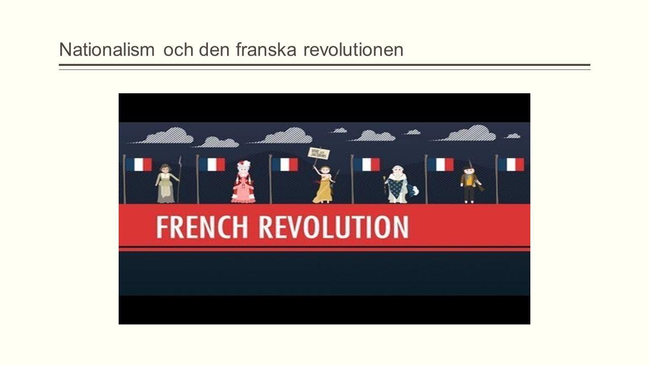 Nationalism och den franska revolutionen