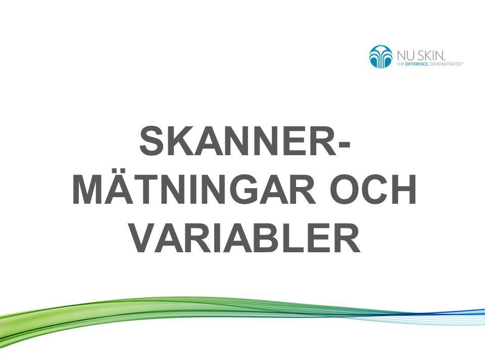 SKANNER- MÄTNINGAR OCH VARIABLER