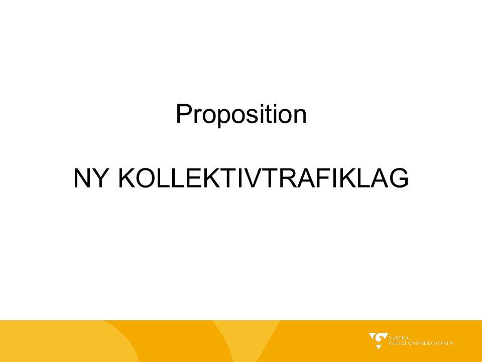 Proposition NY KOLLEKTIVTRAFIKLAG