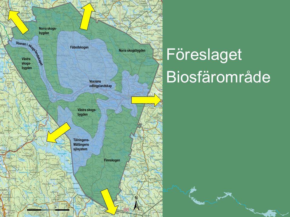 Föreslaget Biosfärområde