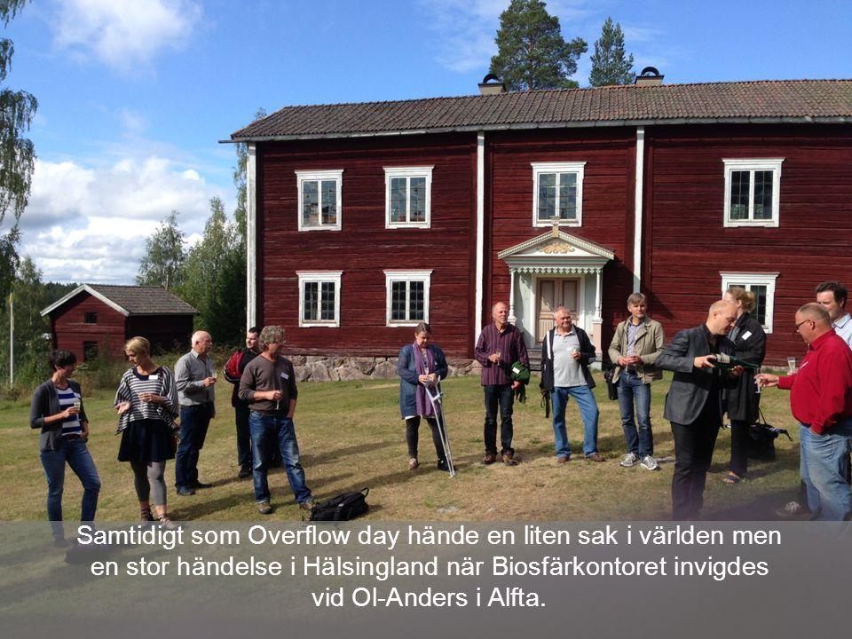 Samtidigt som Overflow day hände en liten sak i världen men en stor händelse i Hälsingland när Biosfärkontoret invigdes vid Ol-Anders i Alfta.