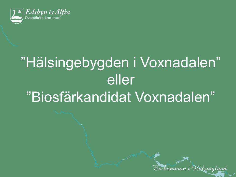 Svenska Biosfärprogrammets VISION Samhället säkerställer basen för mänsklig välfärd genom bevarande av biologisk mångfald och hållbart nyttjande av ekosystem.
