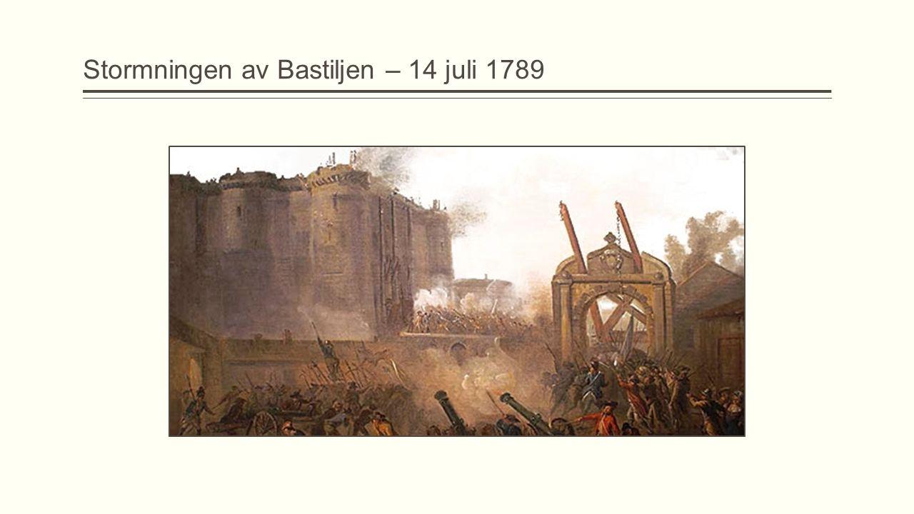 Stormningen av Bastiljen – 14 juli 1789
