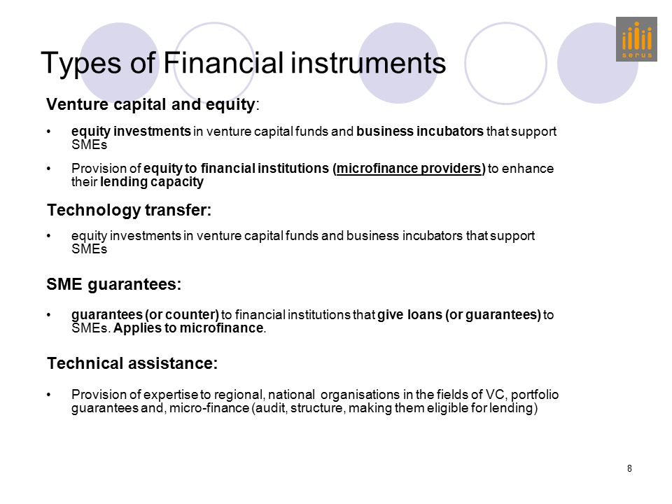 9 FUNDING Equity Venture capital Guarantees TECHNICAL ASSISTANCE SMEs  Microfinance Providers (MCPs)  Tech Transfer Activities  Financial Institutions  Guarantee schemes  Venture Capital Funds ERDF GRANTS MANAGEMENT NAT.