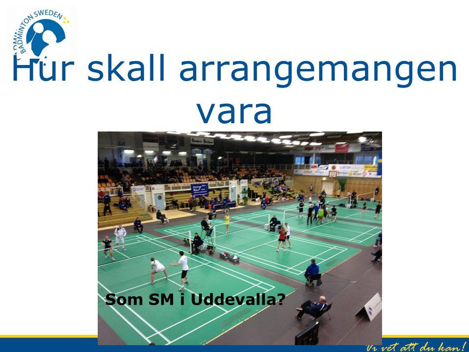 Hur skall arrangemangen vara Som SM i Uddevalla?