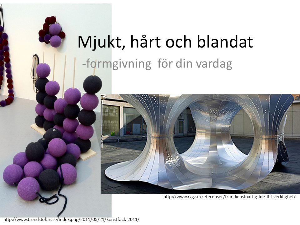 Mjukt, hårt och blandat -formgivning för din vardag http://www.trendstefan.se/index.php/2011/05/21/konstfack-2011/ http://www.rzg.se/referenser/fran-konstnarlig-ide-till-verklighet/