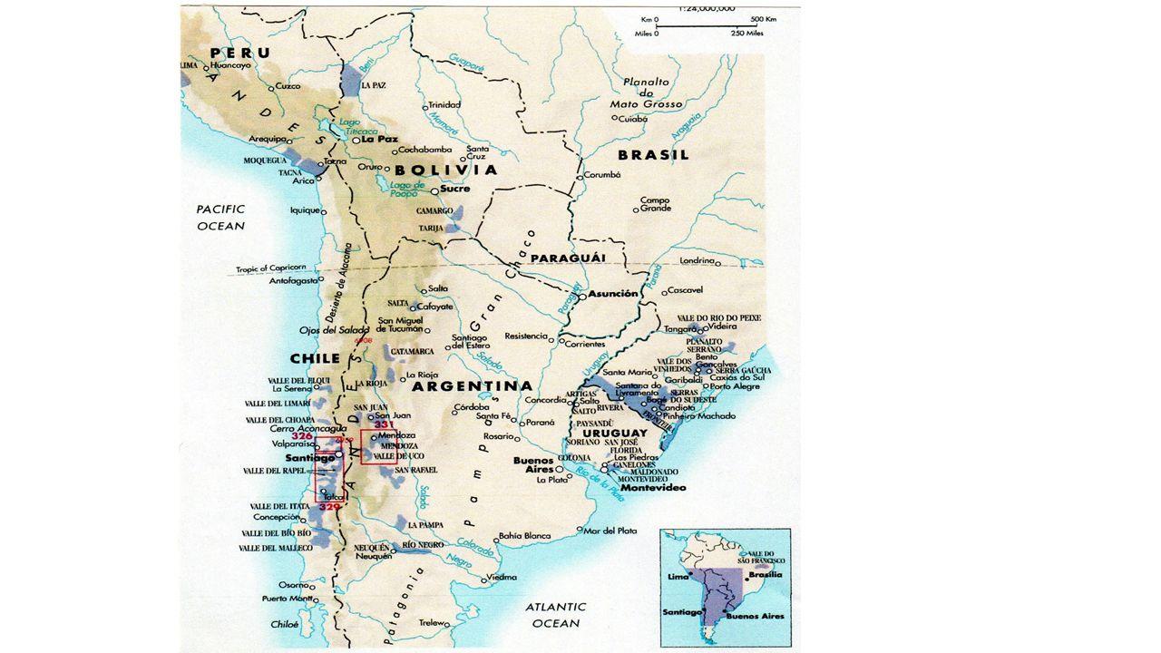 Förhållanden som är till fördel för vinodlingen i Chile Landet är fritt från vinbladslusen (phylloxera).